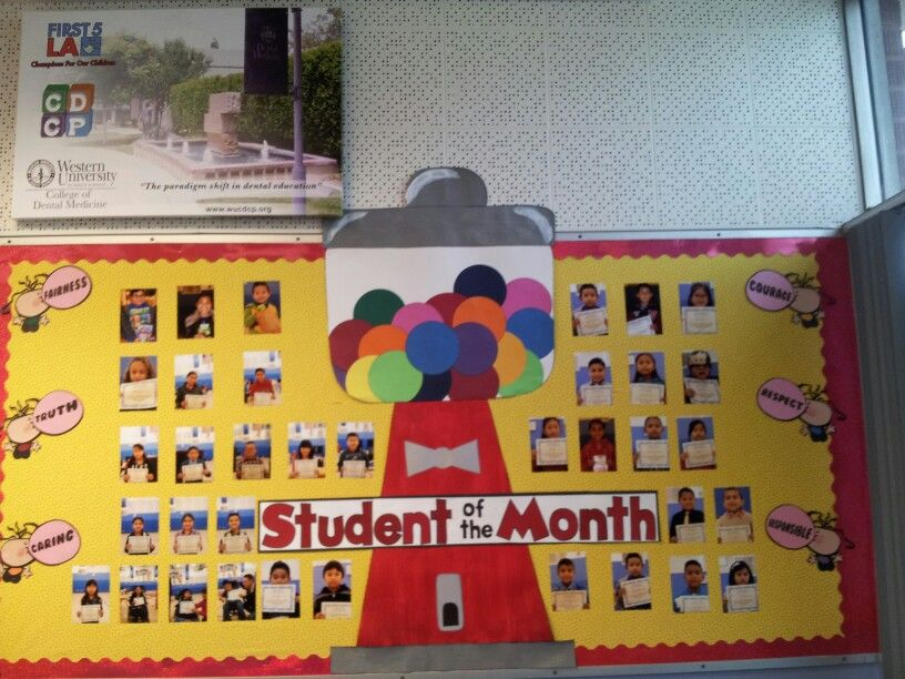 Student of the month bulletin board idea  bubblegum  bulletin - best of printable student of the month certificate