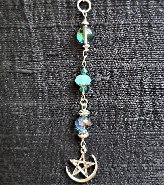 Celtic Pentacle Sun Catcher/ Car Decor | Mystic Aura Car Charm | Garden Art |  Wiccan Decor | Pagan #wiccandecor