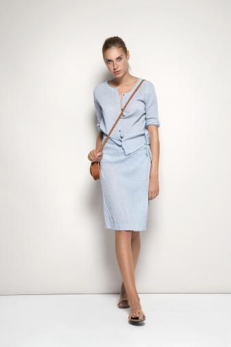 Blue top and skirt - Humanoid