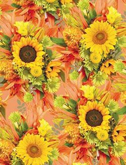 Sunflower Themed Kitchen | Delightful Polish Folk Themed Paper Gift Paper    The Perfect Way To