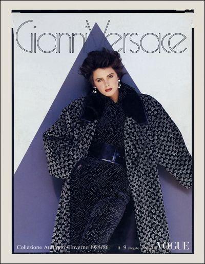 7f22c5be7c GIANNI VERSACE | Catalogo # 9 Collezione Donna Autunno-Inverno 1985/86  (Retro)