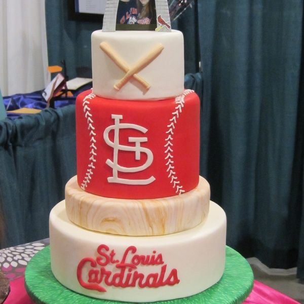 Peachy St Louis Cardinals Cake Oh My Goodness I Love It Funny Birthday Cards Online Fluifree Goldxyz