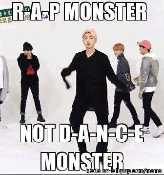 Résultats de recherche d'images pour « bts rap monster meme »