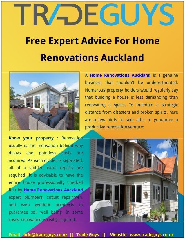 Are You Looking For Auckland Based Home Renovations? Free Expert Advice For  Home Renovations Auckland