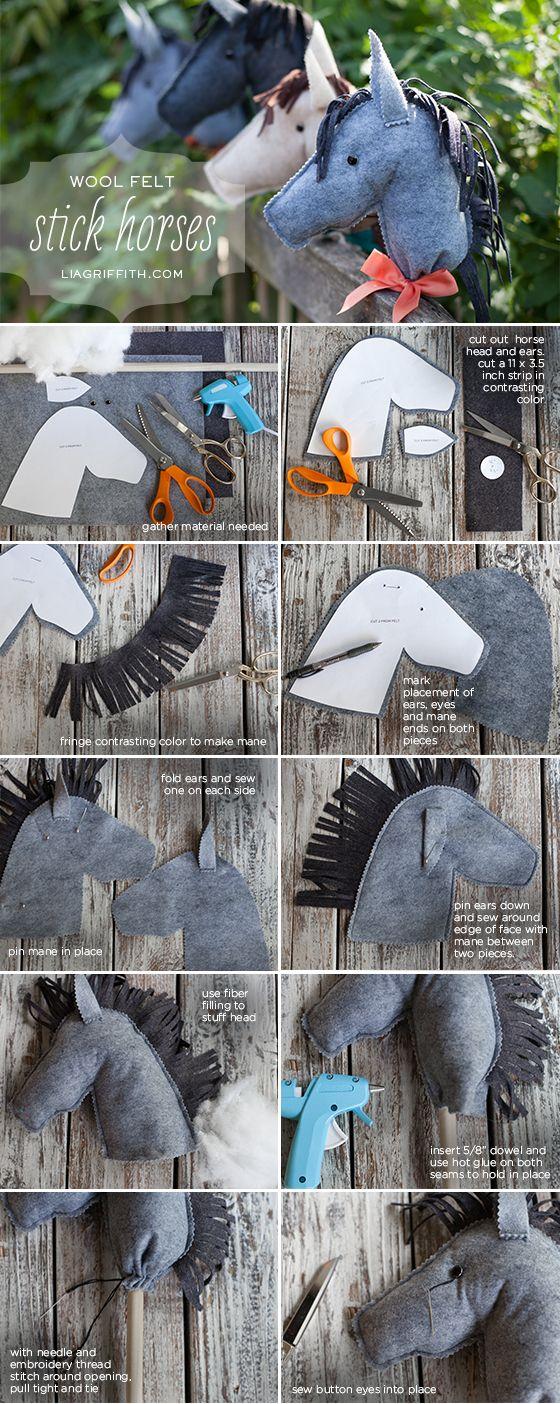 DIY Felt Stick Horses
