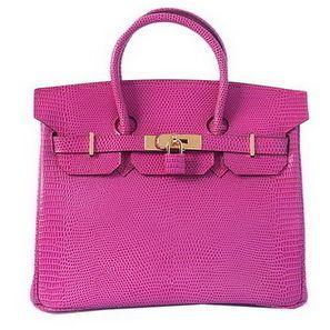 c7e8c4e04ffe Wholesale Réplique Hermes Birkin 30CM sacs fourre-tout en cuir d or Peach  Lizard