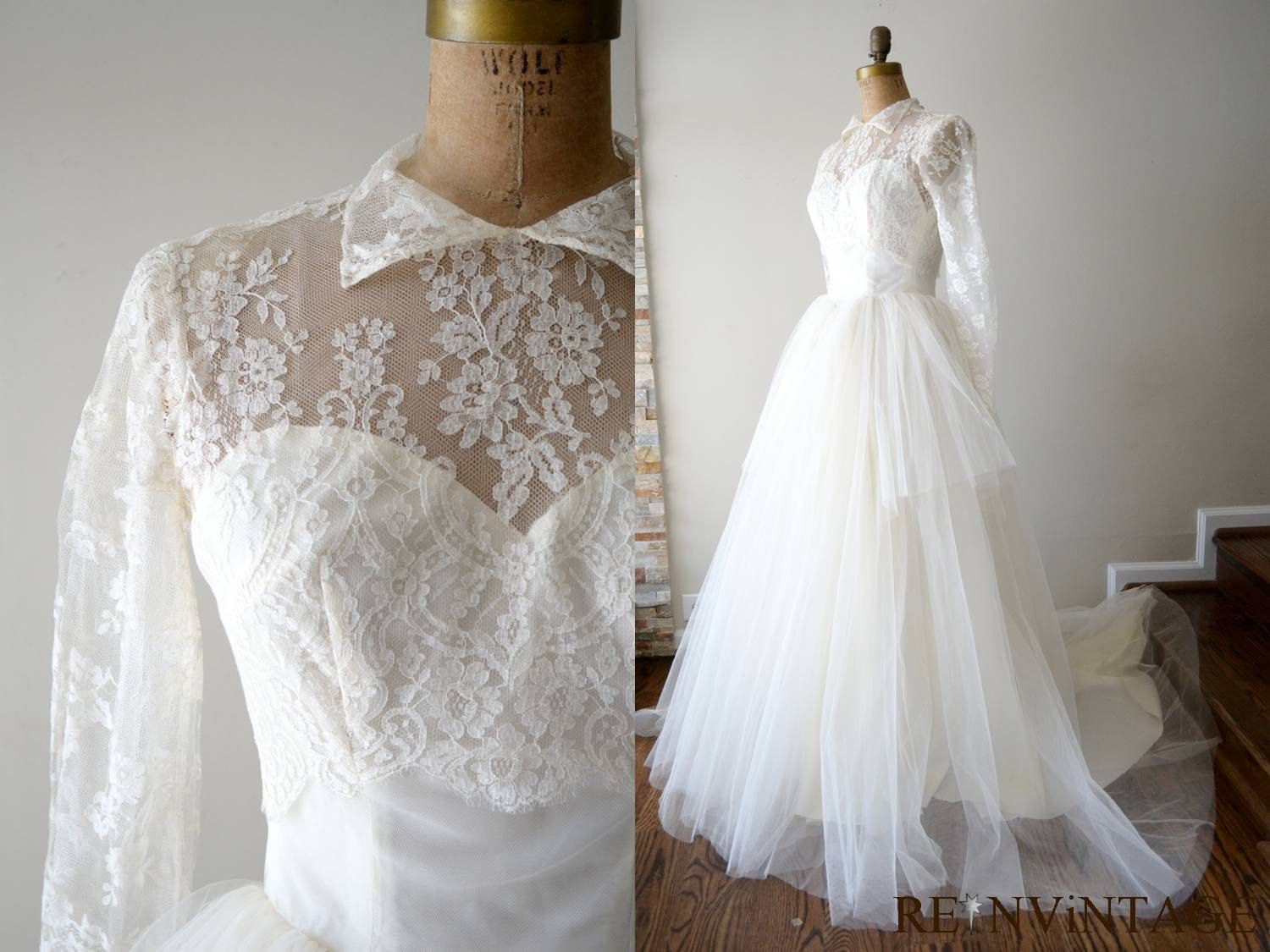1940s Wedding Dresses Ball Gown