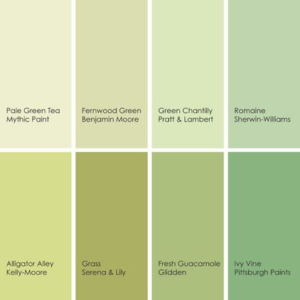 1 pale green tea 080 1 from mythic paint 2 fernwood for Benjamin moore light green