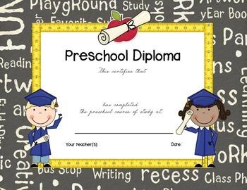 Preschool Graduation Completion Certificate Preschool