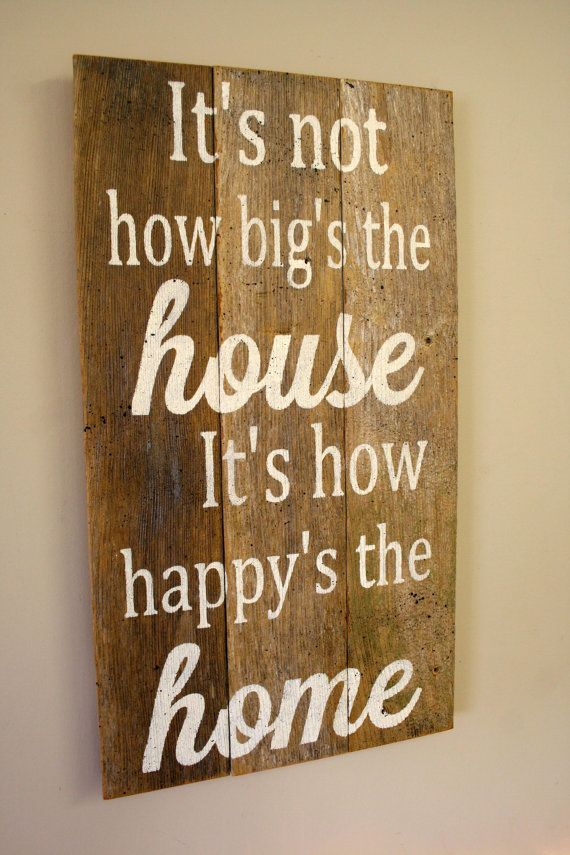It S Not How The House Is Its Hy Home Pallet Sign Reclaimed Wood Rustic Decor Shabby Chic Housewarming Gift Bridal