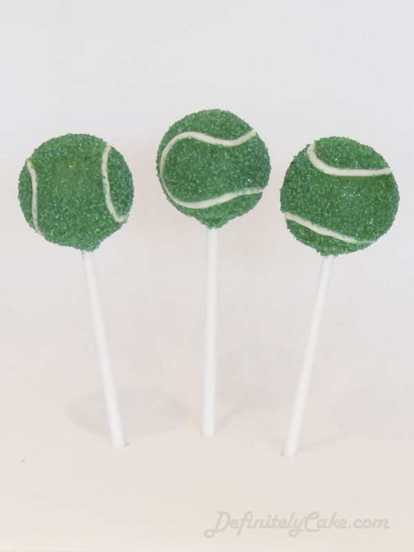 Any one for Tennis?  Green Tennis Ball Cake Pops.