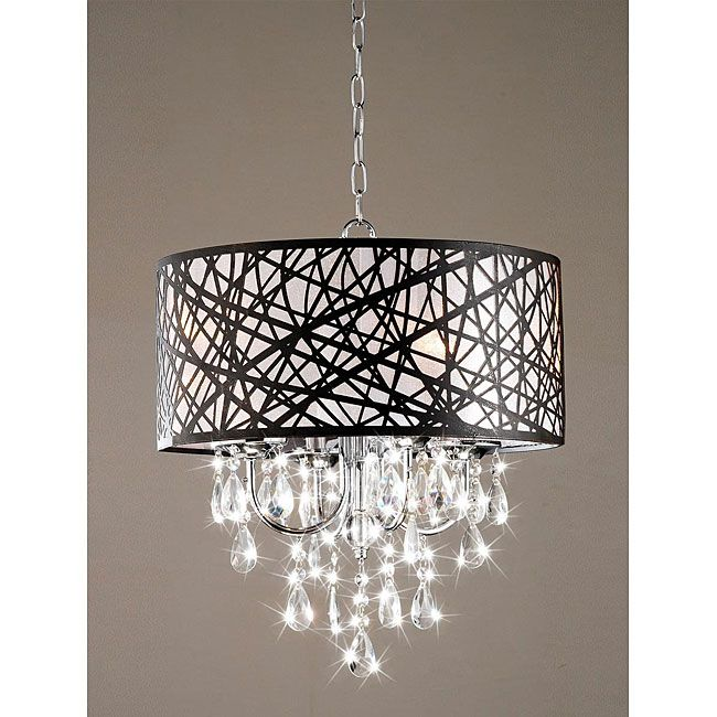 Indoor Chrome Antique Bronze Chandelier Contemporary Chandeliers Saw This W A Gauzy White Shade Over The Absolute Heaven
