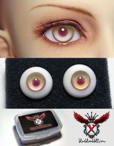 Nice 8mm Light Green with Lines Glass BJD Eyes for OOAK BJD Doll