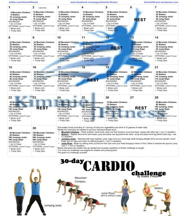 Plyometric Workout Challenge: 30 Day Cardio Challenge