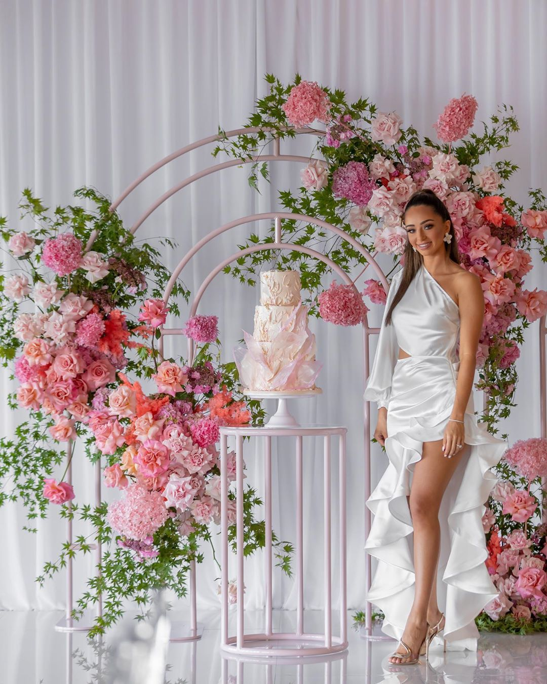 Gorgeous Tiana Styling Elladee Events Backdrop And Cake Table