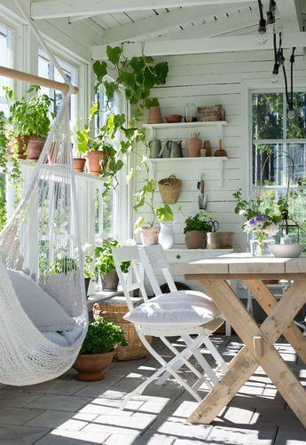 Wintergarten oder Gartenhaus als Büro / Schöpfer / als