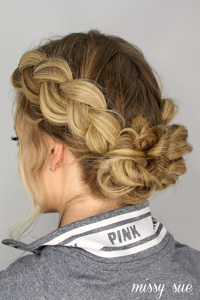 dutch-braids-messy-updo-buns | Hair Tutorials | Pinterest ...