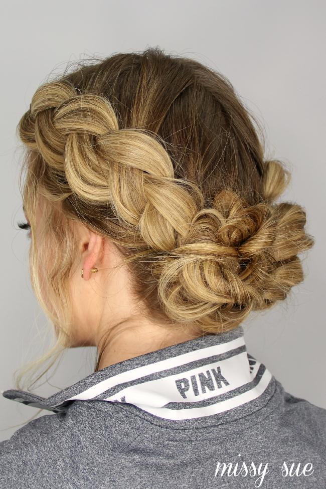 dutch-braids-messy-updo-buns | Hair Tutorials | Pinterest ...