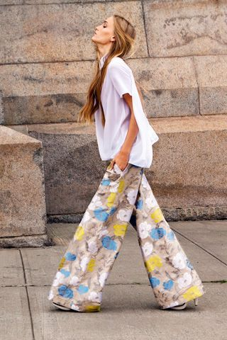 Crazy for these wide leg pants!
