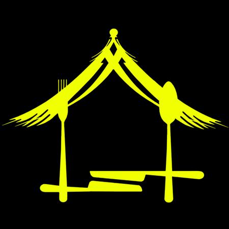 catering dan warung makan warung q neng resep logo restaurant desain logo bisnis desain banner catering dan warung makan warung q