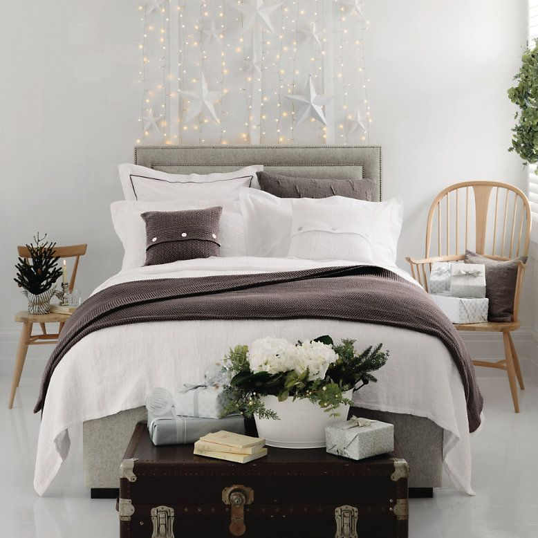At Number 18 The White Company Festive Bedroom Compeion