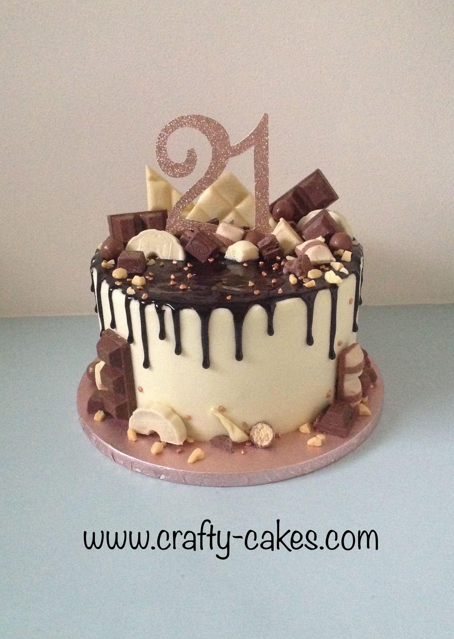 21st Birthday Chocolate Drip Cake Chocolate Drip Cake Birthday 21st Birthday Cakes Drip Cakes