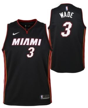 purchase cheap 68236 ff6d6 Nike Dwyane Wade Miami Heat Icon Swingman Jersey, Big Boys ...