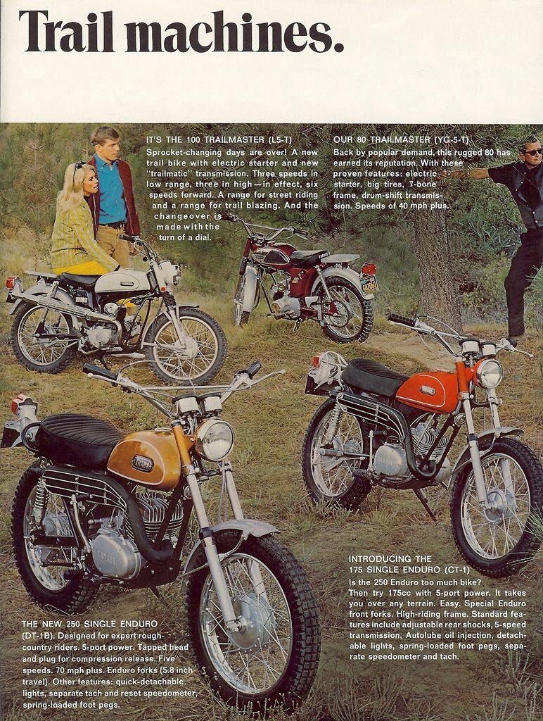 Yamaha Trail Bikes Ad Plusgoogle JohnPruittMotorCompanyMurrayville BikesHonda MotorcyclesVintage