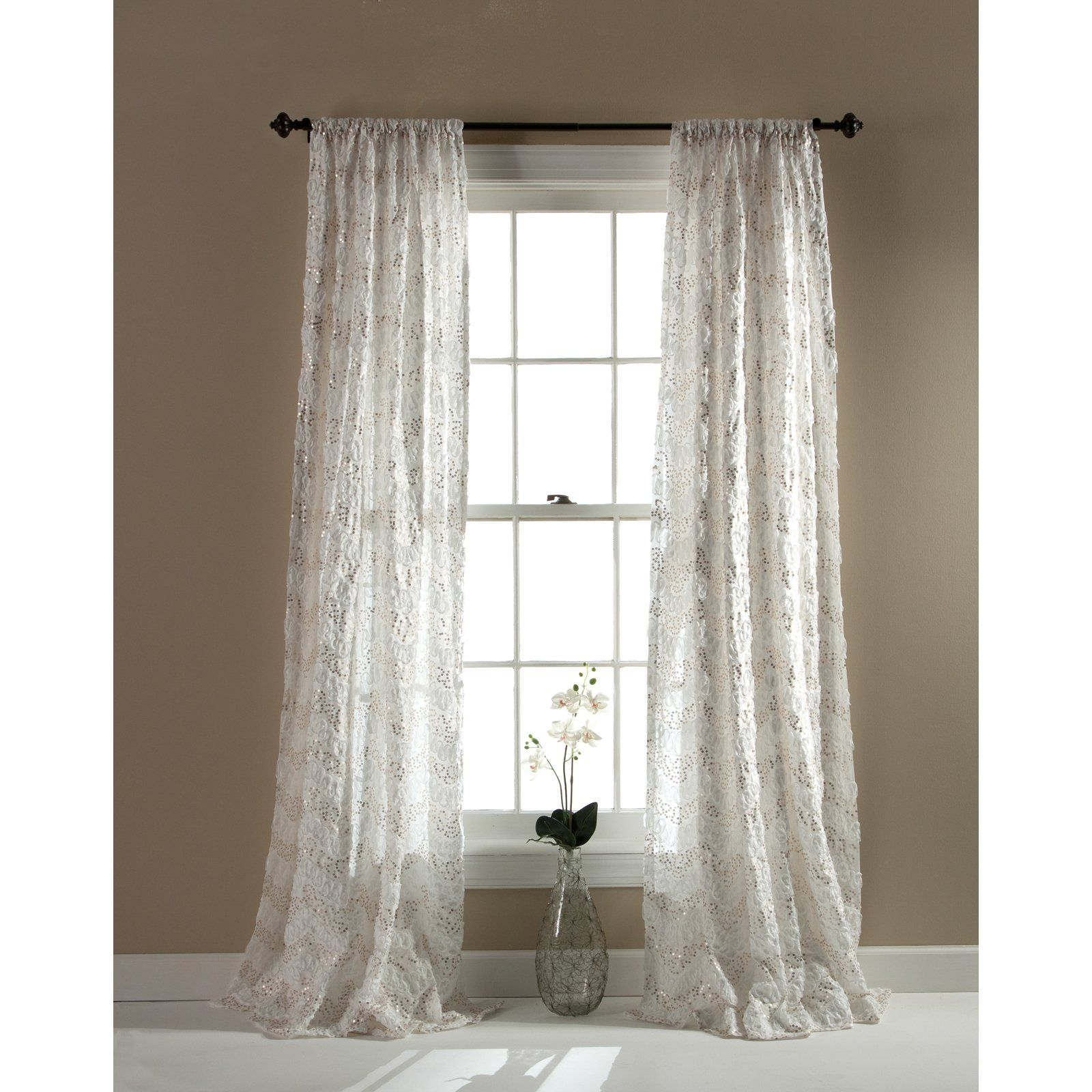 Triangle window coverings  have to have it triangle home fashions giselle rod pocket single