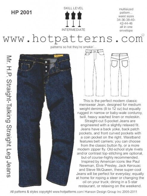 HP 2001 Mr. H.P. Straight-Talking Straight Leg Jeans | Männermode ...