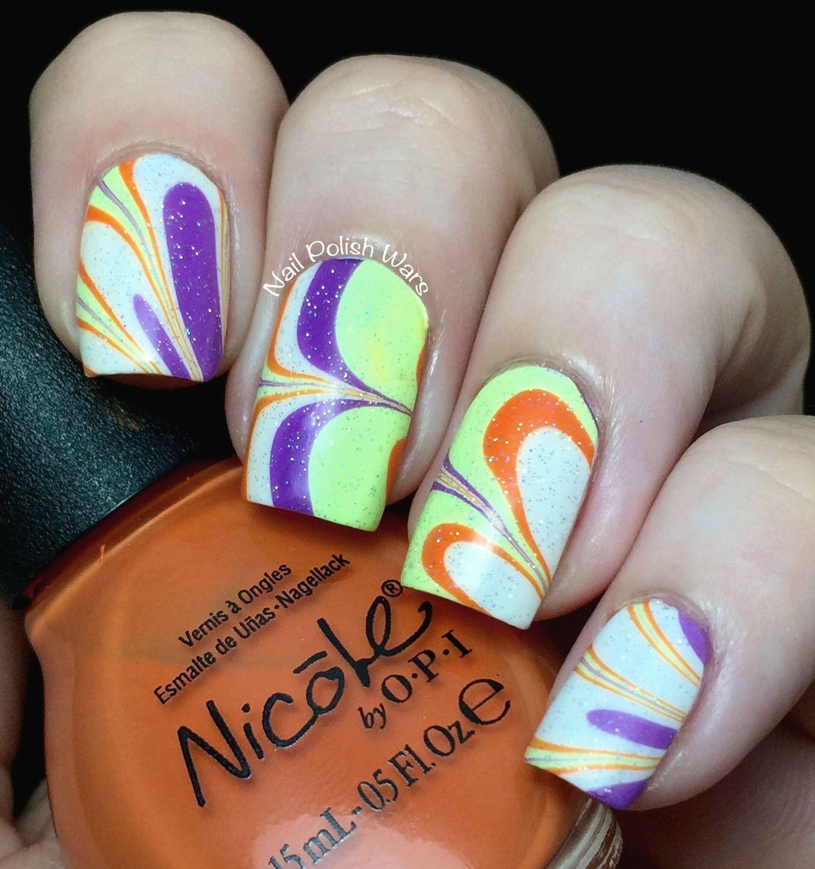 Nail Polish Wars: Trick or Treat ... water marble nail art | nail ...