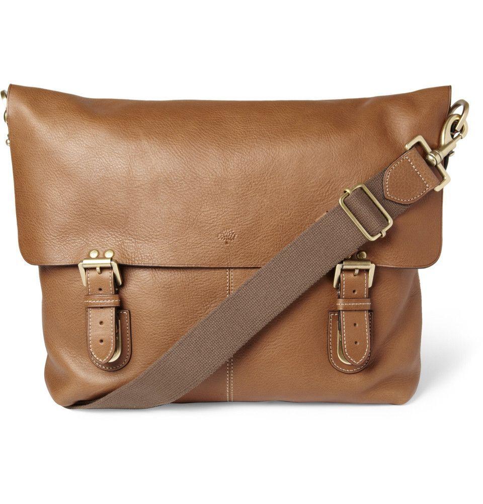 77b5b11da85 Mulberry Barnaby Leather Messenger Bag | MR PORTER | Designer Mens ...