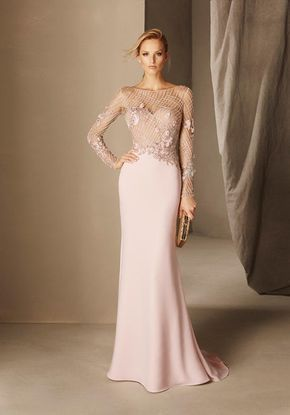Pronovias Cocktail BAEZA Bridesmaid Dress photo | φορεματα | Pinterest
