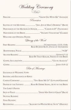 15f5249796746154aefb04d4ec548ae7 - Traditional Wedding Format