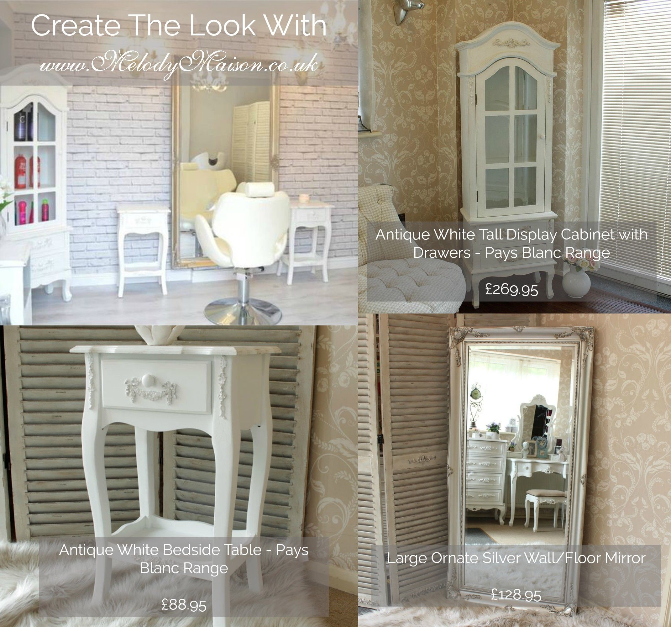 Create This Beautiful Shabby Chic Salon Look With www.melodymaison ...