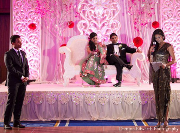 indian wedding reception bride groom http://maharaniweddings.com/gallery/photo/11397