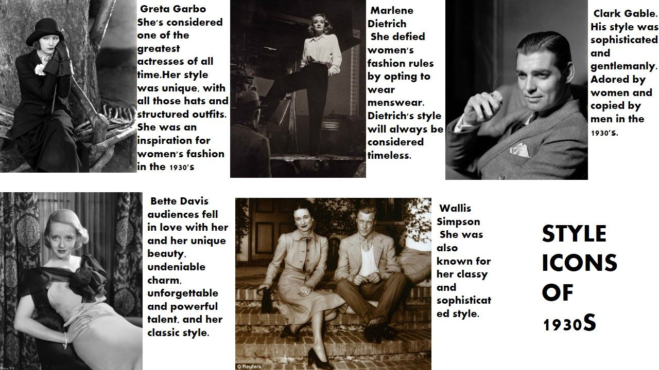 style icons of 1930s