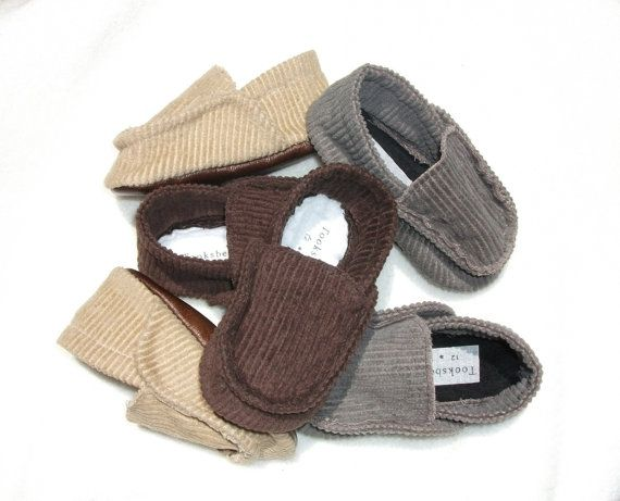 93a51dd0a429a Baby Boys shoes gray brown tan corduroy baby loafers by Tooksberry ...