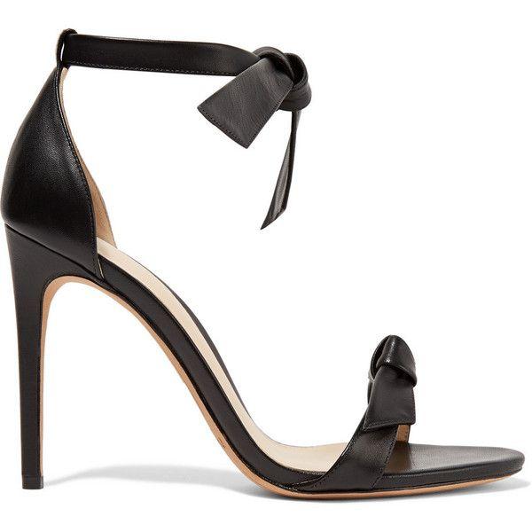 Clarita Bow-embellished Leather Sandals - Black Alexandre Birman 6EbMMF7nOG