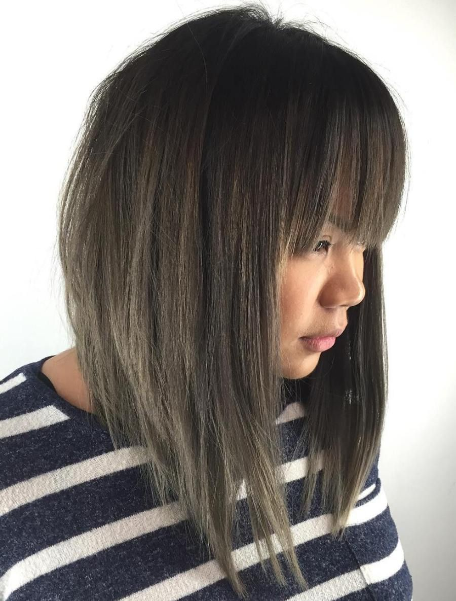 20 Modern Ways To Style A Long Bob With Bangs Long Bob Haircuts Long Bob With Bangs Long Bob Hairstyles
