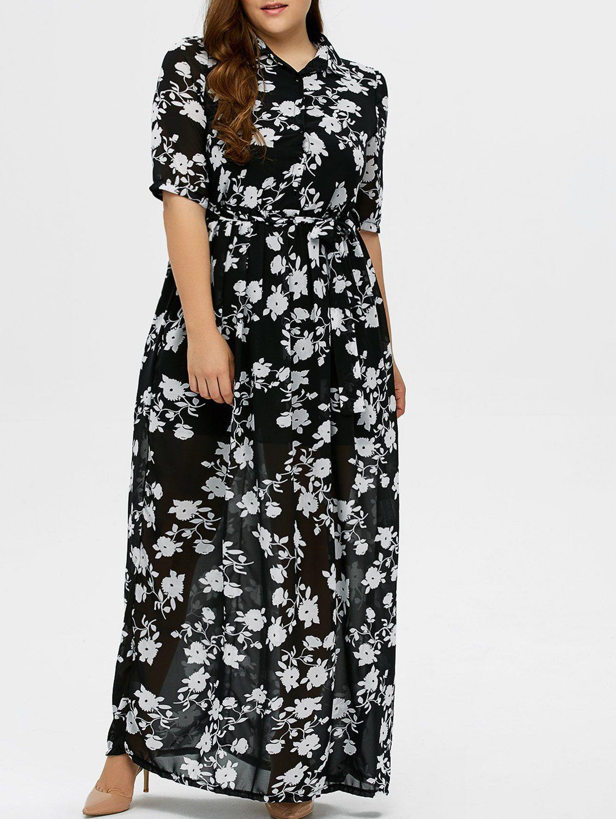 $28.47 Plus Size Floral Maxi Dress | Foodie | Floral print maxi ...