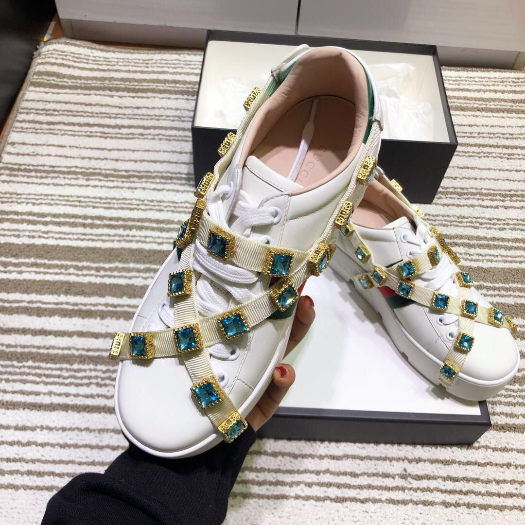 Gucci woman ace sneakers with platforms