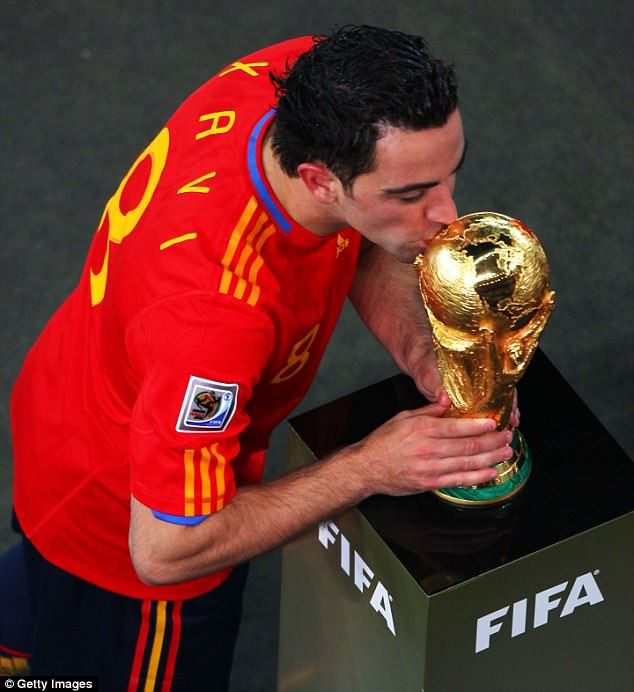 Top 10 The Greatest World Cup Players Ever Xavi Hernandez Best Football Players World Cup
