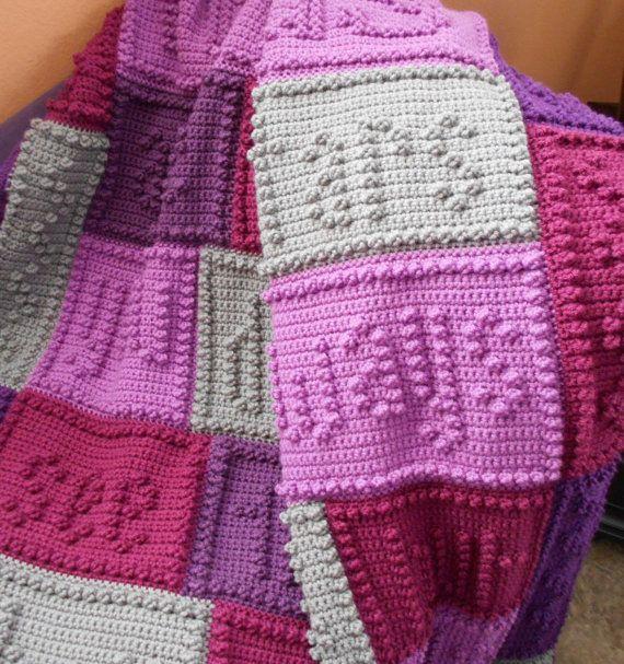 Friends Pattern For Crocheted Blanket Crochet Afghans Pinterest