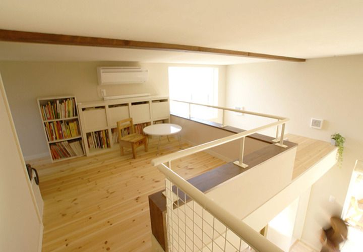 ロフトを利用した小部屋 狭小住宅 ロフト設計 住宅