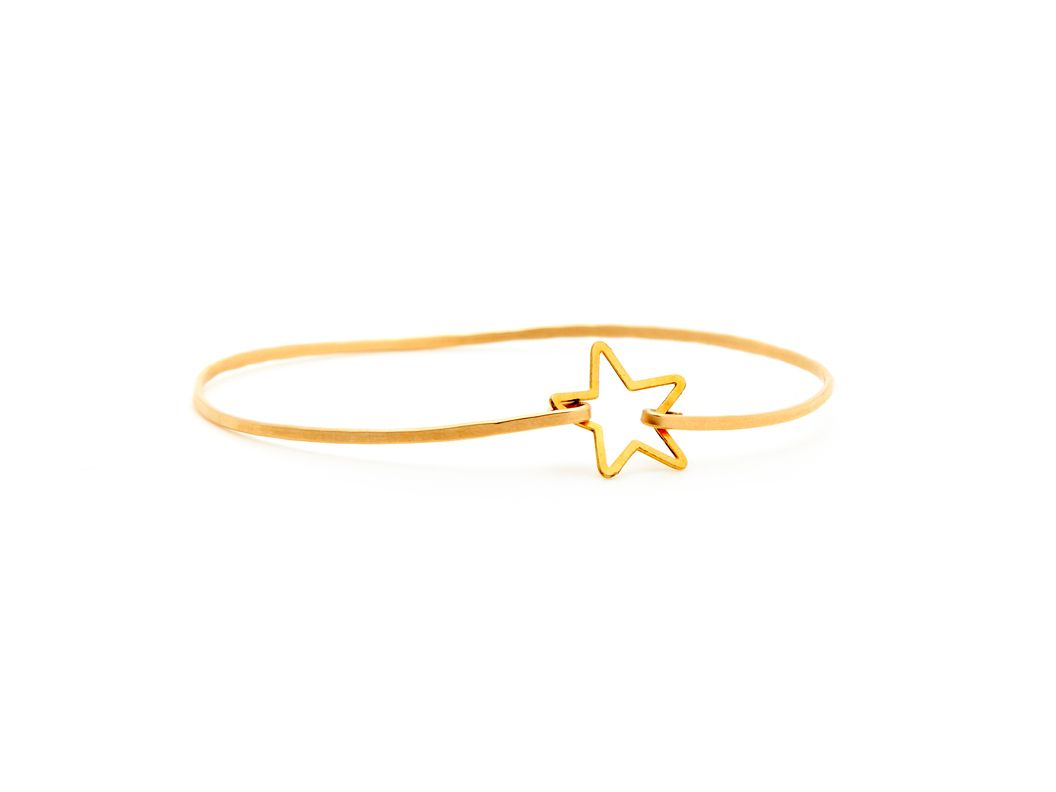 Gold Star Bangle by Kris Nations