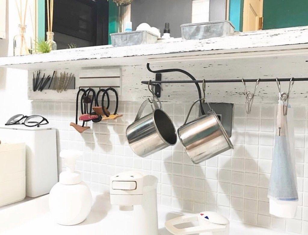 収納 セリアの定番アイテムで洗面所をスッキリ収納 収納 セリア ヘアゴム 収納 洗面所