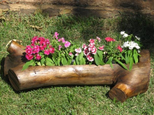 maderas en jardines rusticos Diseño de jardines Pinterest