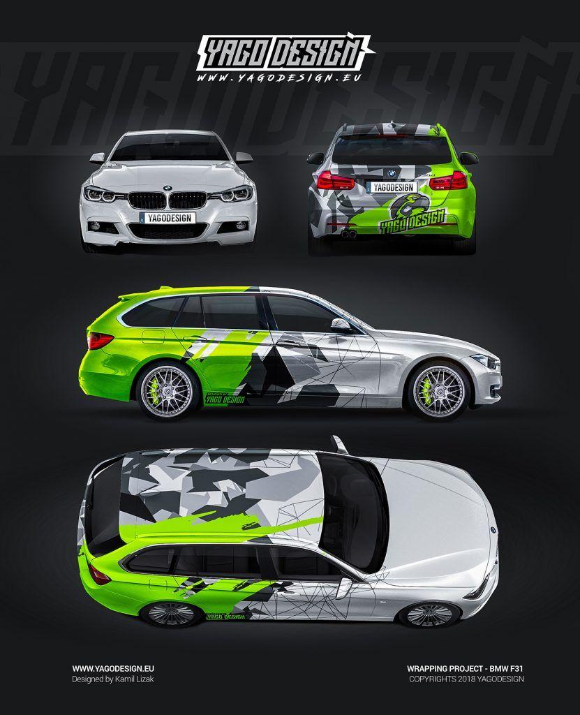Bmw F31 Yago Design Car Sticker Design Car Wrap Design Car Wrap
