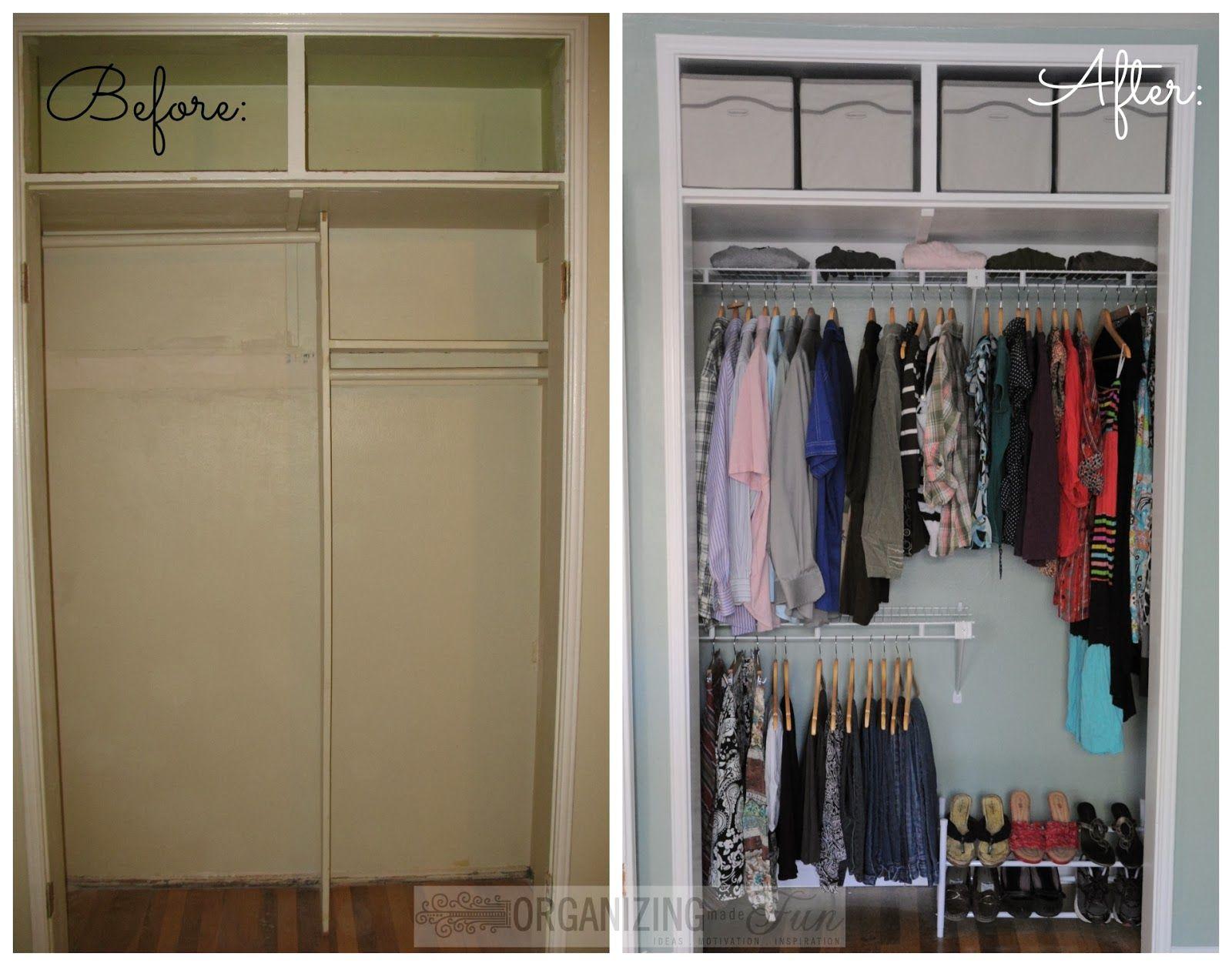 Helping With A Closet Clever Closet Closet Makeover Small Apartment Closet